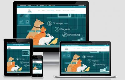 Tierarzt Webseite: Referenz für iDIA Marketing - Webseiten Grabow