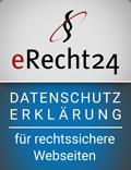 E-Recht24 Siegel rechtssichere Datenschutzerklärung - iDIA Marketing Grabow