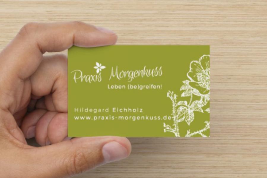 Visitenkarte und Logo Design für Heilpraktikerin Hildegard Eichholz - Referenz iDIA Marketing
