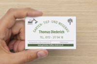 Referenz iDIA Marketing aus Muchow - Logo Design und Visitenkarte für Bauunternehmen Thomas Diederich