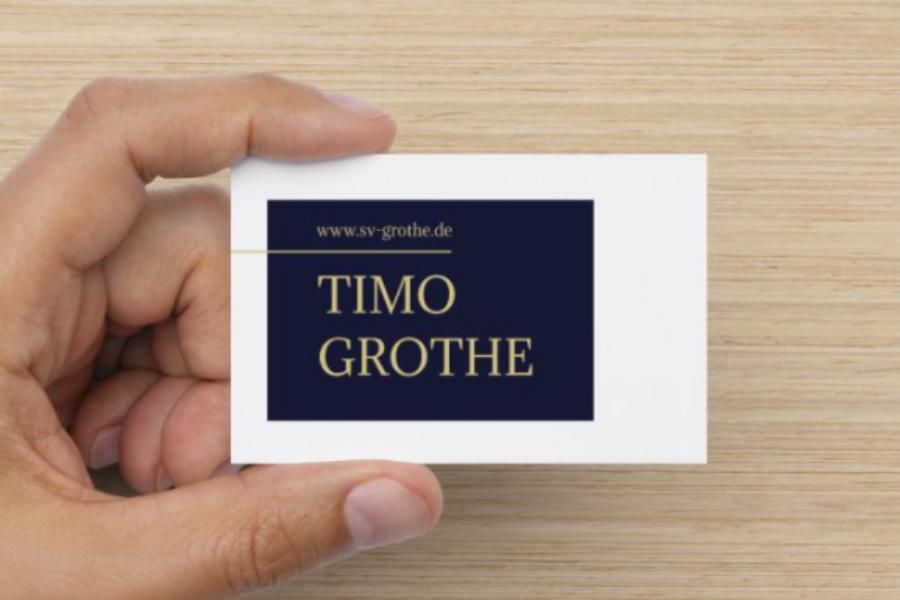 Referenz iDIA Marketing - Visitenkarte und Logo Design für Sachverständigen Timo Grothe